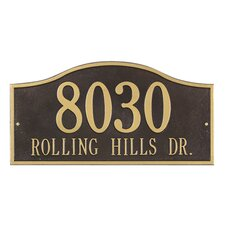 Rolling Hills Grand Address Plaque