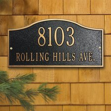 <strong>Whitehall Products</strong> Rolling Hills Standard Address Plaque