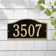 Rolling Hills Standard Address Plaque