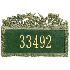 Woodland Hummingbird Standard Address Plaque