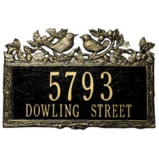 Woodland Wren Standard Address Plaque