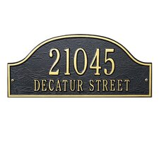 Admiral Standard Address Plaque