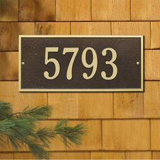 Hartford Standard Address Plaque