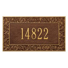 Oakleaf Address Plaque