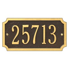 Cut Corner Address Plaque