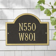 Wisconsin Special Standard Address Plaque