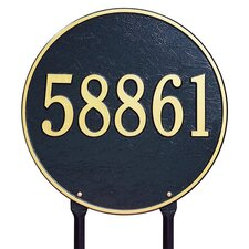 Round Address Sign