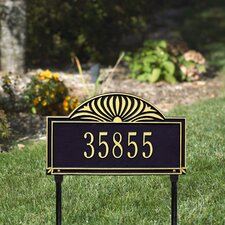 Sunburst Standard Address Sign