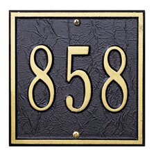 Square Petite Address Plaque