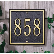 <strong>Whitehall Products</strong> Square Petite Address Plaque