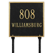 Square Standard Address Sign
