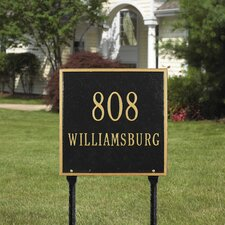 <strong>Whitehall Products</strong> Square Standard Address Sign