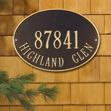 <strong>Whitehall Products</strong> Hawthorne Standard Address Plaque