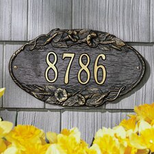 Morning Glory Standard Address Plaque