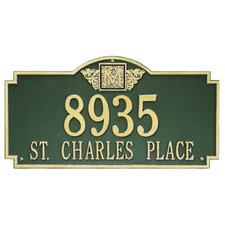 Monogram Estate Address Plaque