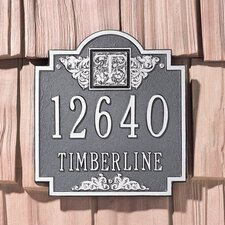 Monogram Standard Address Plaque