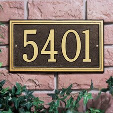 Double Line Standard Address Plaque