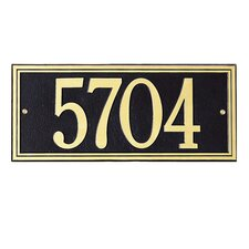 Double Line Estate Address Plaque
