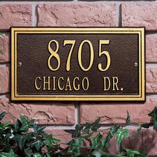 <strong>Whitehall Products</strong> Double Line Standard Address Plaque