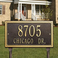 Double Line Standard Address Sign