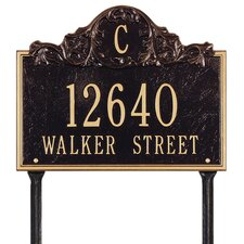 Acanthus Monogram Address Sign