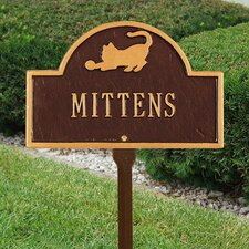 Pet Cat Mini Arch Memorial Sign