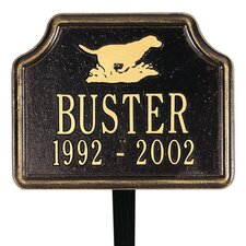 Retriever Standard Lawn Memorial Sign