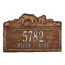 Woodland Bears Standard Address Plaque