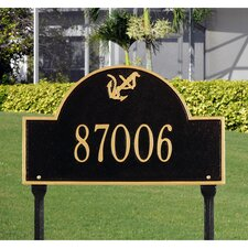 Anchor Arch Standard Lawn Address Sign
