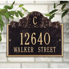 Acanthus Monogram Address Plaque