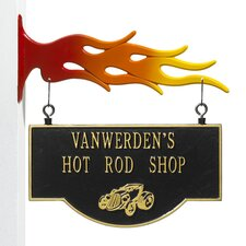 Garage Hot Rod Two-Sided Hanging Sign