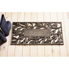 Personalized Pinecone Mat