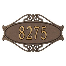 Hackley Fretwork Standard Address Plaque