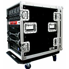 Deluxe Amplifier Rack System Case with Caster Board