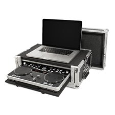DJ Controller ATA Case for Vestax VCI300 with Laptop Storage and Pull Out VCI300 Compartment