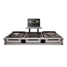 "Coffin for 2 X Pioneer CDJ2000/DVJ1000 CD Players   10"" Mixer with Wheels"