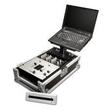 "Integrated Laptop Stand with 10"" DJ Mixer Case with Front Doors"
