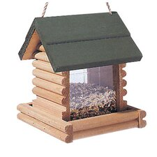 Log Cabin Hopper Bird Feeder