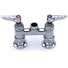 "Deck Mount Centerset Faucet with 0.5"" Ips Cc Male Inlets"