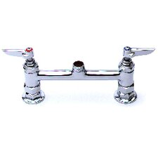 "Deck Mount Centerset Faucet with 15"" Double Jointed Swing Spout"