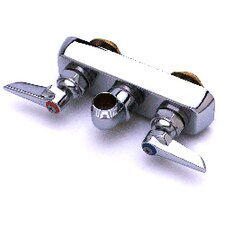 Wall Mounted Bathroom Faucet with Double Handles