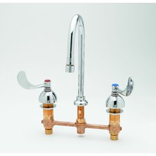 Widespread Medical Bathroom Faucet with Cold and Hot Handles