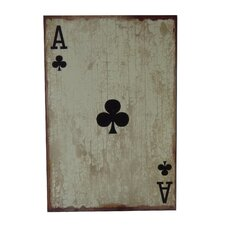 Ace of Clubs Graphic Art Plaque