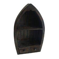 2 Drawer Canoe Decorative Shelf