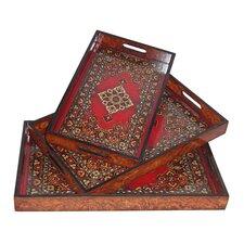 3 Piece Carpet Tray Set