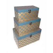 3 Piece Clover Trunk Set