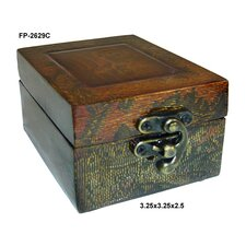 Wooden Box with Swirl Design