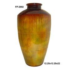 Metal Short Neck Vase