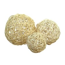 Rattan Ball in White