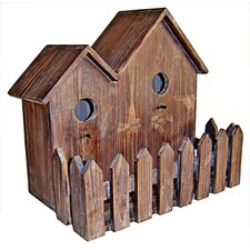 Double Wooden Bird House